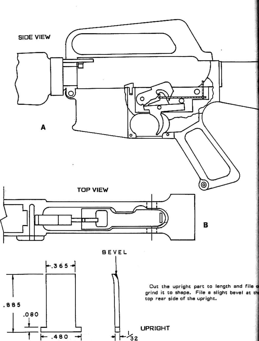 Building lightning ar15 to m16 conversion assemble the parts refer to drawing cl install the parts in the lower receiver see drawing a tip the weapon so the links upright rests against the pooptronica
