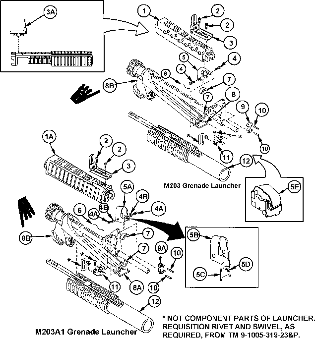 M203 Parts Diagram Diy Enthusiasts Wiring Diagrams