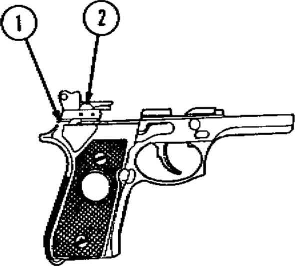 beretta 92fs slide 9mm safety removed