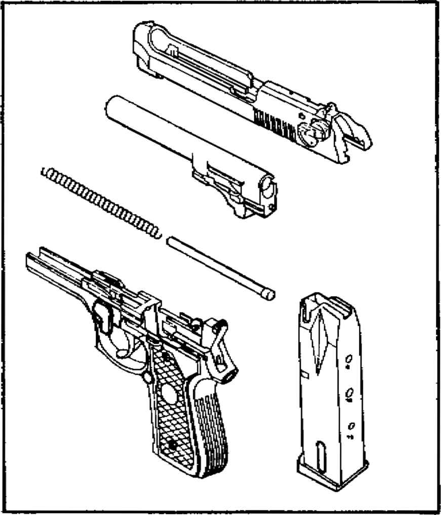 m9 9mm pistol part diagram