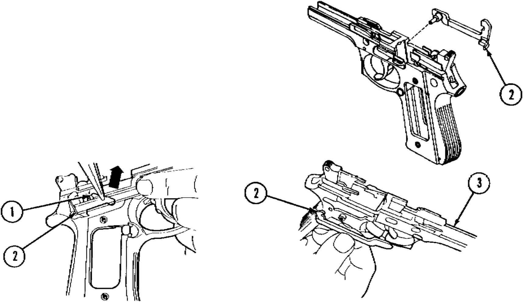 caution - beretta 92f 9mm pistol