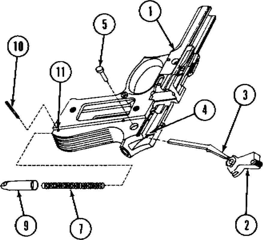 diagram of the beretta 92f