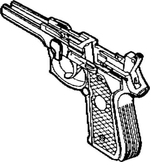 parts of a semi-automatic pistol