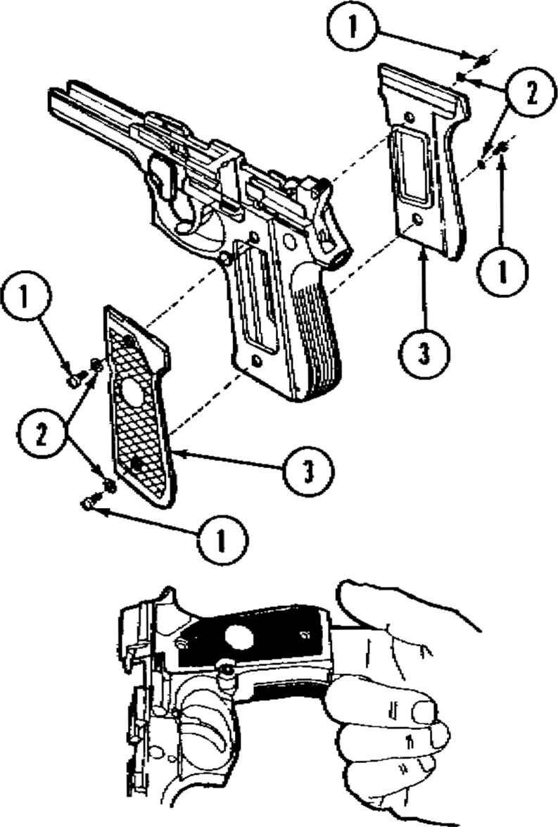 how to dismantle a 9mm handgun