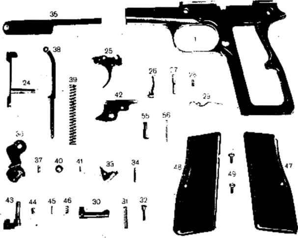 high power automatic pistol