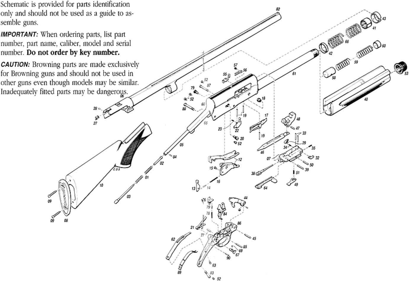 Remington 1100 Rings Diagram Electrical Wiring Parts Of A Browning A5 Shotgun Bar Safari List