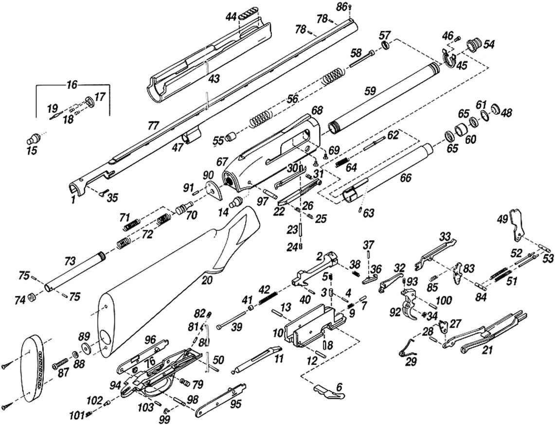 Semi Auto Diagram : The barrel to receiver browning gold semi auto ga