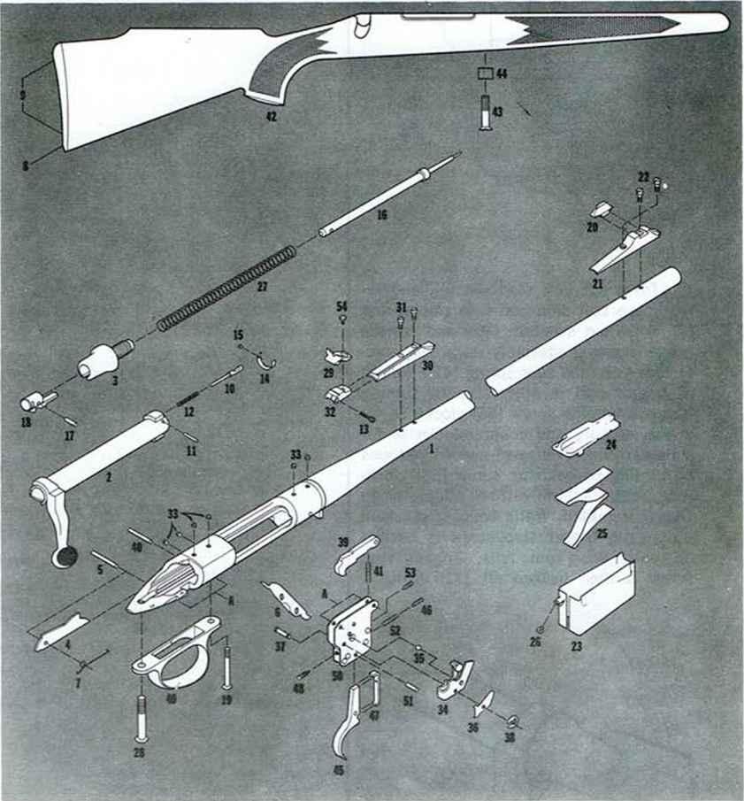 Remington model rifle firearms assembly