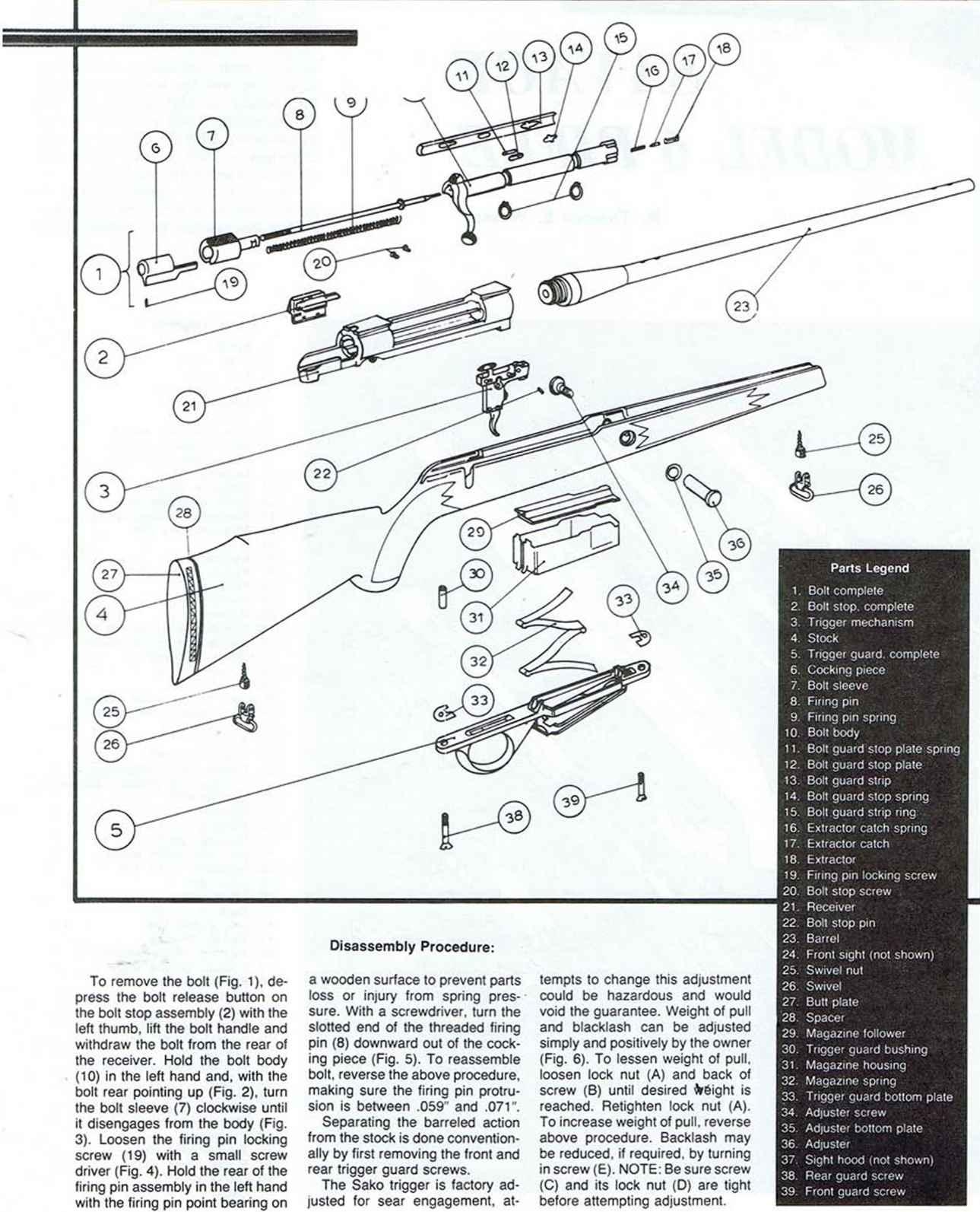 Exploded Views Firearms Assembly Bev Fitchetts Guns Magazine 1911 Diagram Colt Trigger Mechanism Parts Legend