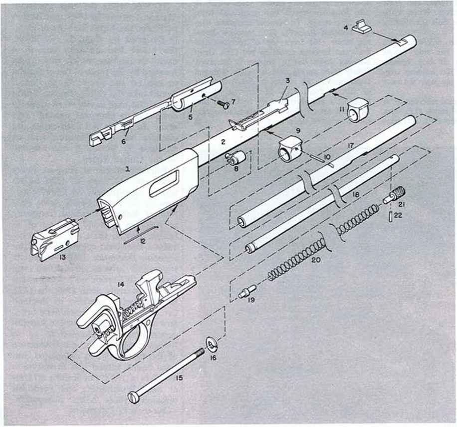 winchester model 270  parts legend