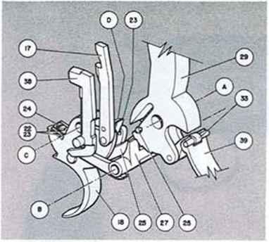 Ressort de rappel de detente Colt lightning 1877 3523_2402_1047-sauer-sohn-brake-parts