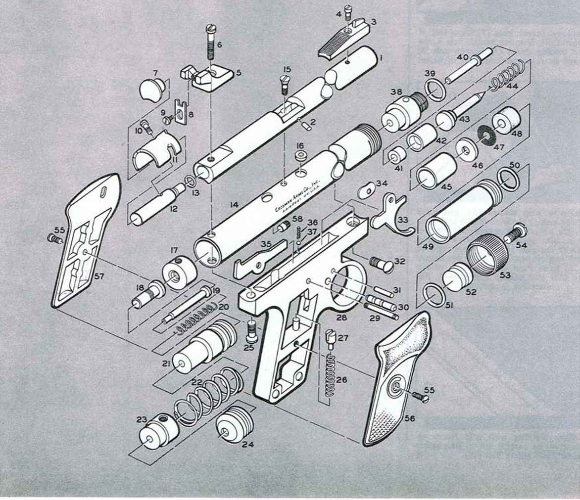 crosman 157 vintage crosman pellgun pistols parts