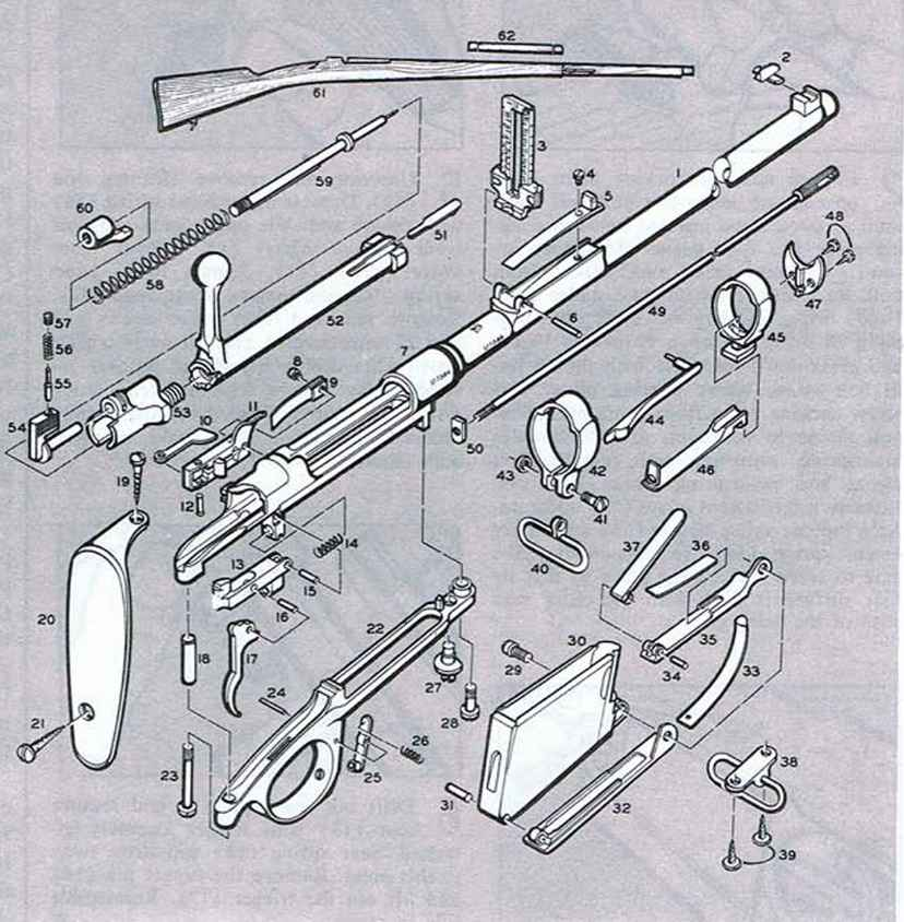 Mauser Rifle Argentine Model Firearms Assembly