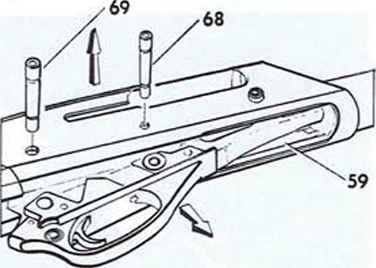 How to remove the plug in a remington model 11-48 firearms assembly.
