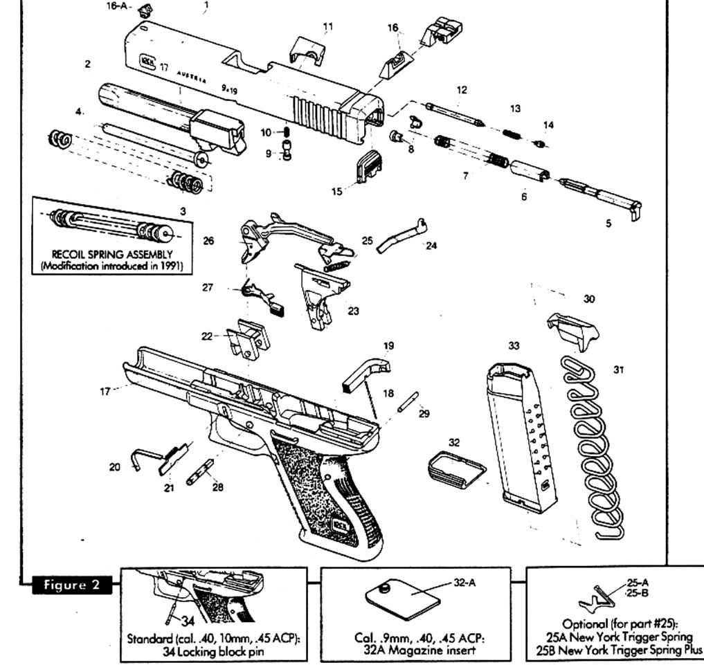 Glock 21 Parts Diagram Sketch Coloring Page