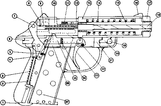 Single Shot Pistol Patent