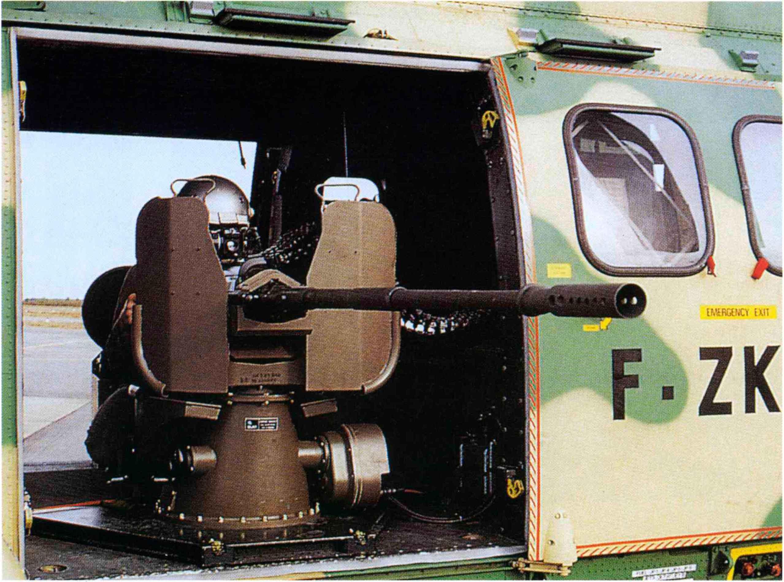 helicopter machine guns