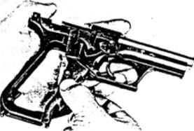 info hk p7 pistol p7 9mm bev fitchett s guns magazine HK Mark 23 fig 20 mounting the drag lever