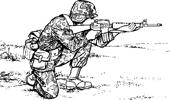 Kneeling Position Firing Front