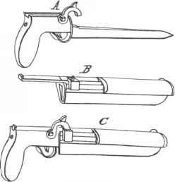 Combination Dagger And Pistol