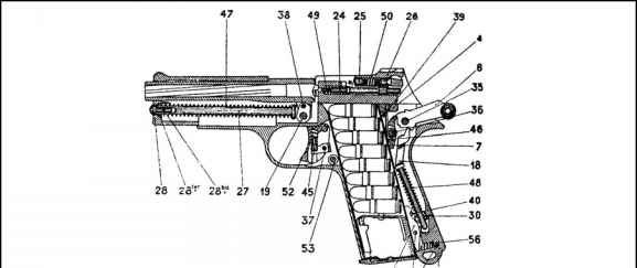 French Service Handguns 1935a Diagram