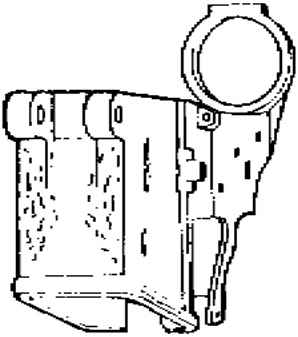 M16 Lower Receiver Milling Blueprints