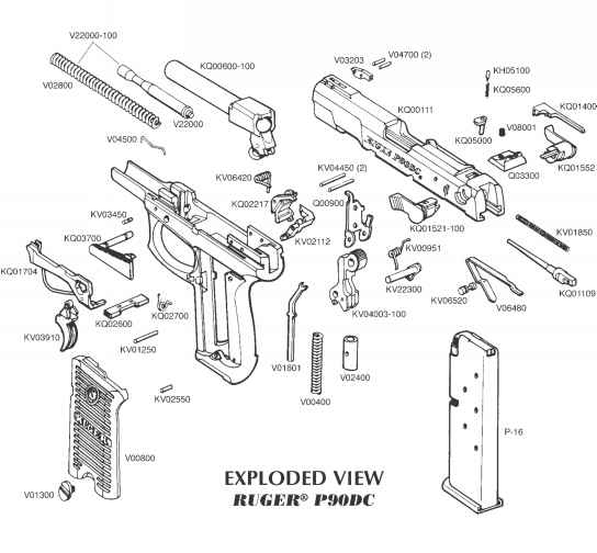 Ruger P345 Exploded View