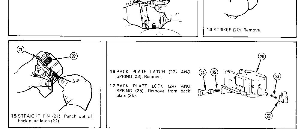back plate assemblymaintenance instructions