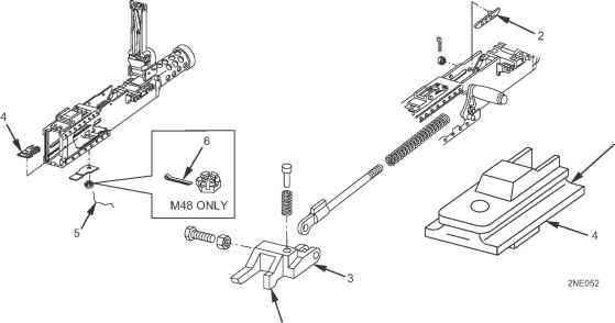 m2  50 cal parts diagram retracting slide