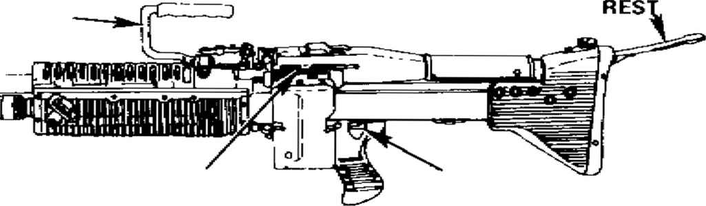 M60 Machine Gun With Bipod Details - Machinegun 7 62mm M60