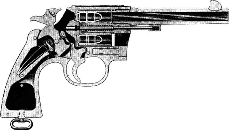 Technical Drawing Open Revolver