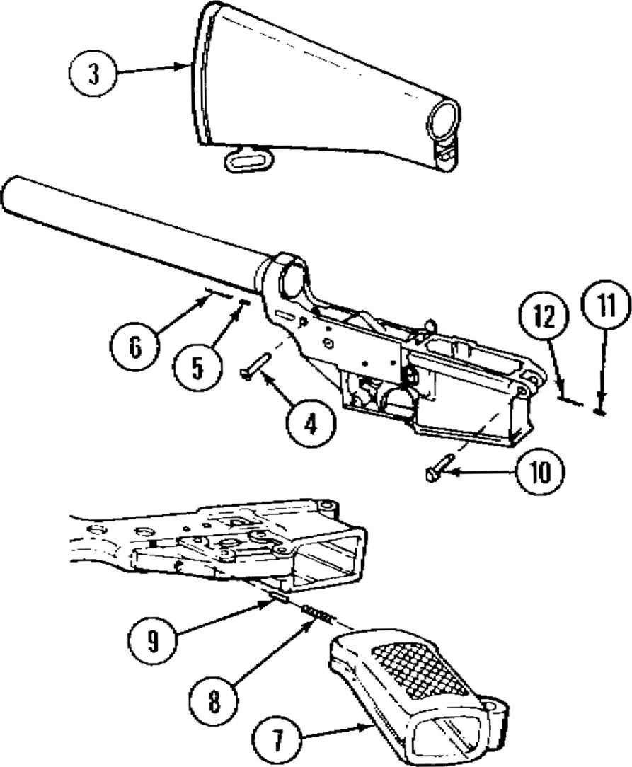 anizational maintenance instructions rifle 5 56mm m16 and m16a1 M2 Selector Switch m16 rifle upper receiver diagram instructions bipod assembly m3 serviceability check
