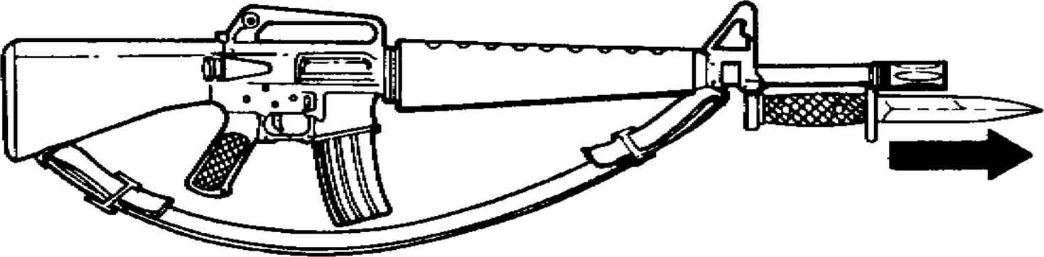 M16 Rifle With Knife