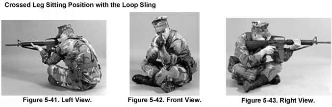 Open Leg Sitting Position with the Hasty Sling - Rifle Marksmanship