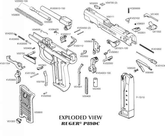 Parts List And Suggested Retail Prices - Ruger P Series P89DC P90DC