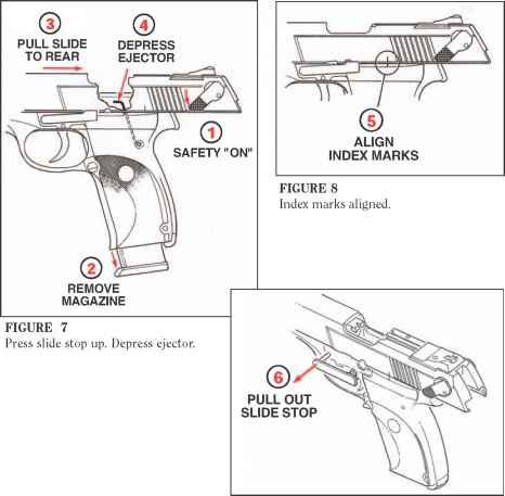 To disassemble be sure pistol is unloaded ruger p345 pistol slide stop in disassembly position ccuart Image collections