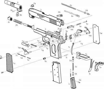 Exploded View Parts List Springfield 1911 A1 Pistols